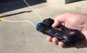 Полицейские тестируют BolaWrap — оружие для стрельбы опутывающим тросом